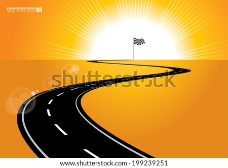 Road to sucess - stock vector