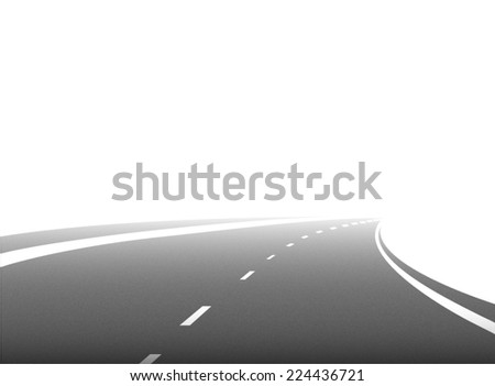 road vector on white background - stock vector