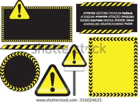 Road warning backgrounds - stock vector