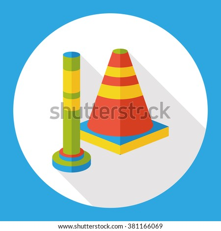 Roadblocks barrier flat icon