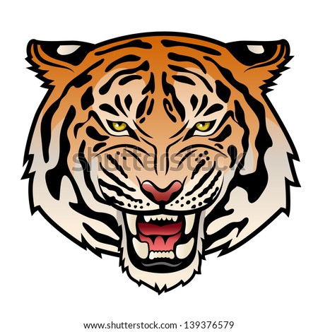 Tiger roar vector - photo#21
