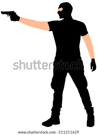 robber with mask, vector