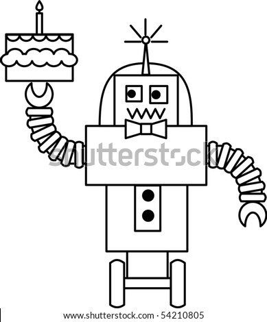 Robbie Robot - stock vector