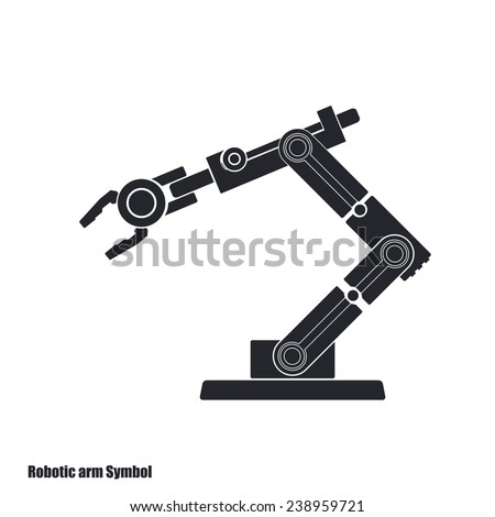 Robot arm isolated on white - stock vector