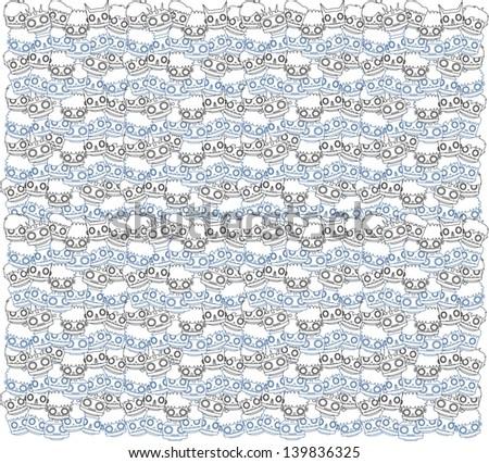robot background full - stock vector