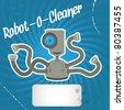 Robot cleaner. Vector illustration. - stock vector