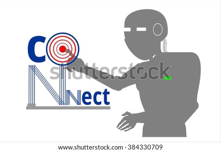 robot connect network logo