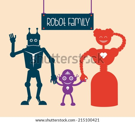 robot design over  pink background vector illustration  - stock vector