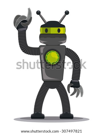 Robot digital design, vector illustration eps 10. - stock vector