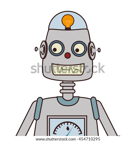 Robot kid toy ,colorful isolated flat icon