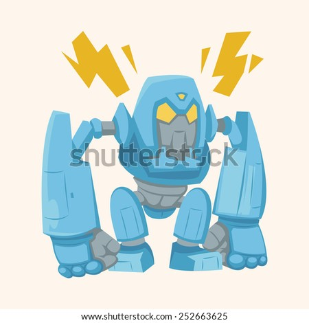 robot theme elements vector,eps - stock vector