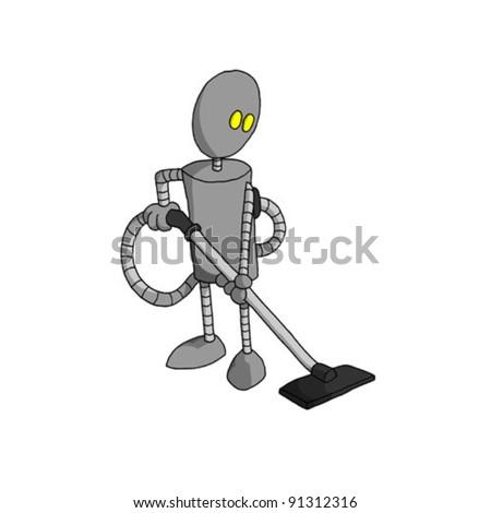 robot vacuum (vector) - stock vector