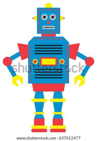robot vector illustration stock vector 637012477 shutterstock rh shutterstock com robot vector art robovector laser