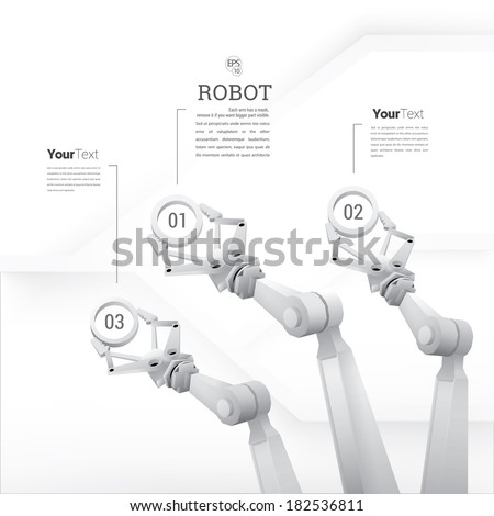Robotic infographics template for your business presentation  - stock vector
