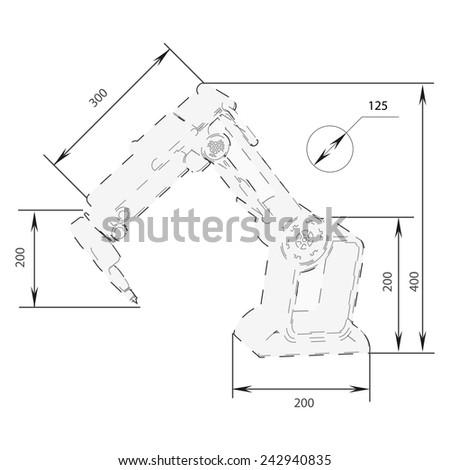 Stock Vector Christmas Turkey Symbol Like Blueprint Drawing Stylized Drawing Of Roast Turkey On Blueprint Paper