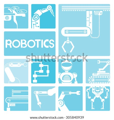 robotics concept - stock vector