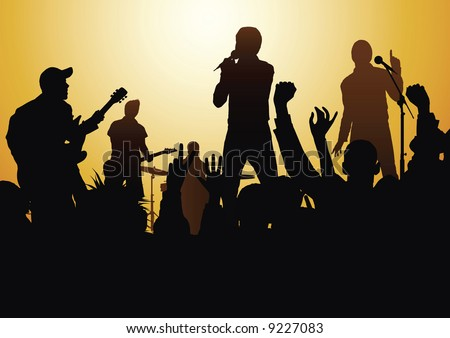 rock-and-roll - stock vector