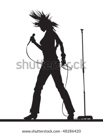Rock Chick - stock vector