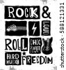 Rock festival poster. Rock and Roll sign. Slogan graphic for t shirt.