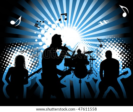 Rock group. Vector illustration for design use. - stock vector