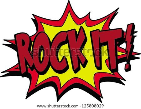 rock it - stock vector