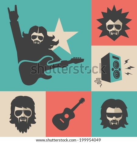 Rock Musician - stock vector
