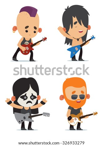 Rock musicians - stock vector