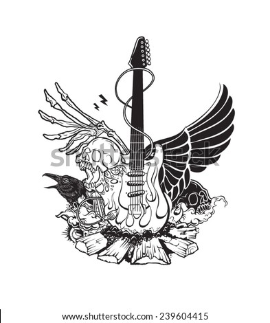 Rock n roll - stock vector