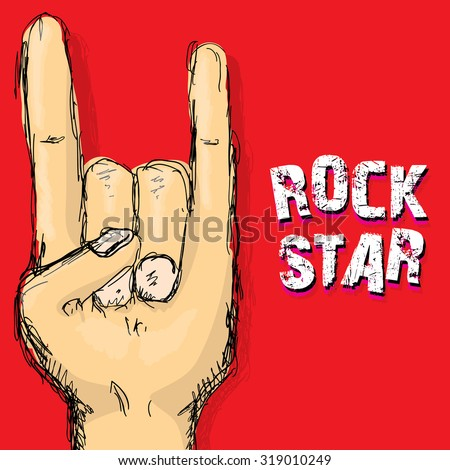 rock n roll music background. rock n roll icon. Rock concert poster design template