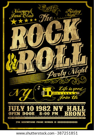 Rock poster design style - stock vector