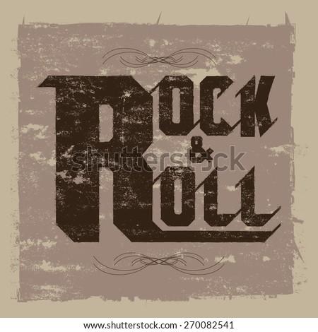 Rock & roll Concept vector - stock vector