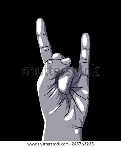 Rock sign, vector illustration - stock vector