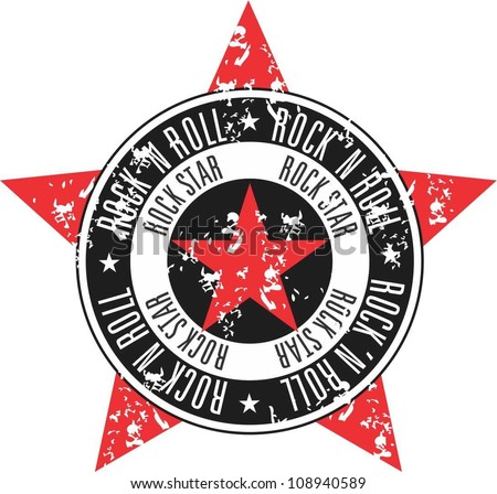 Rock star stamp - stock vector
