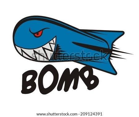 rocket bomb - stock vector