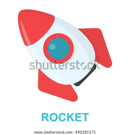Rocket cartoon icon. Illustration for web and mobile design.