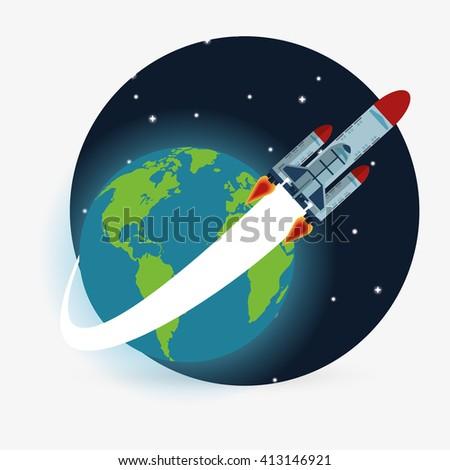 rocket design. science concept. cosmos icon - stock vector