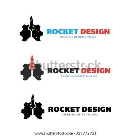 rocket design,Vector logo Template - stock vector
