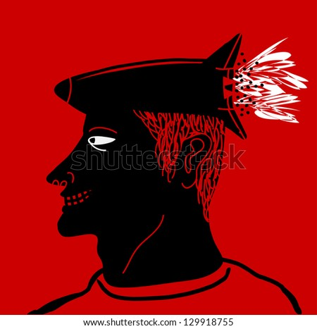 rocket-head man, fast idea - stock vector