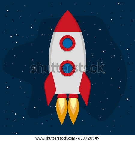 Astronaut Rocket Outer Space Kid Illustration Stock Vector ...