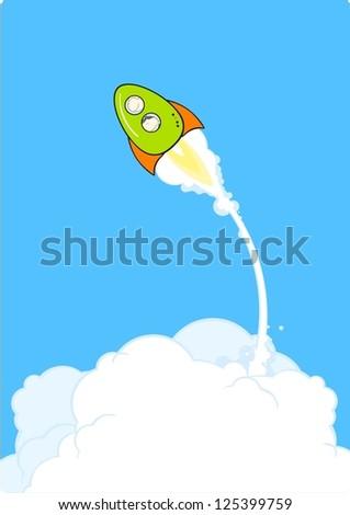 Rocket launch - stock vector