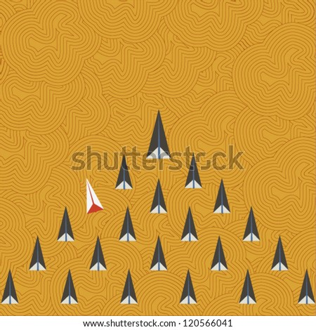 Rocket pattern background - stock vector