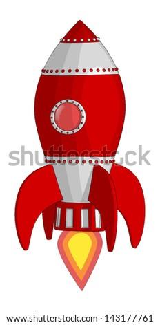 Rocket Ship - stock vector