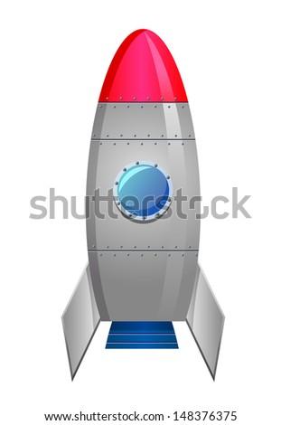 Rocket Ship icon - stock vector