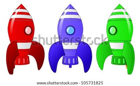 Rocket Ships - stock vector