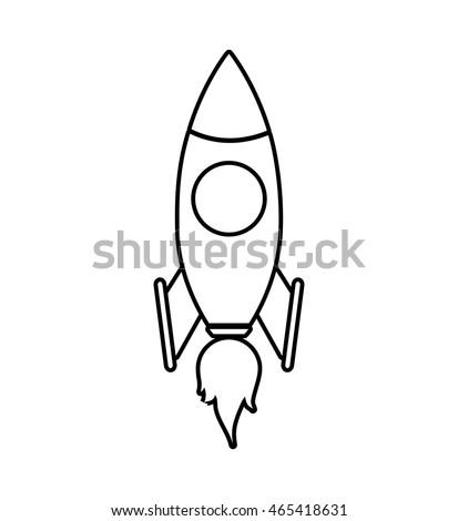 Rocket Icon Black Monochrome Style Isolated Stock Vector 482839762 ...