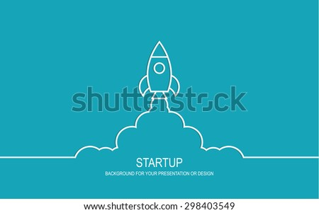 rocket startup concept - stock vector