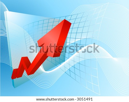 Rocketing profits. A conceptual background based on a graph soaring profits - stock vector