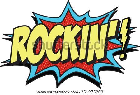rockin - stock vector