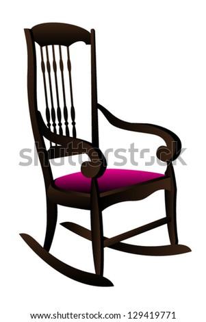 Rocking Chair Vector Illustration Stock Vector