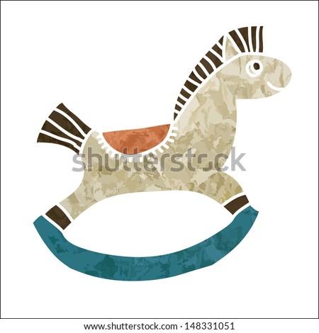 Rocking horse. Vector art - stock vector